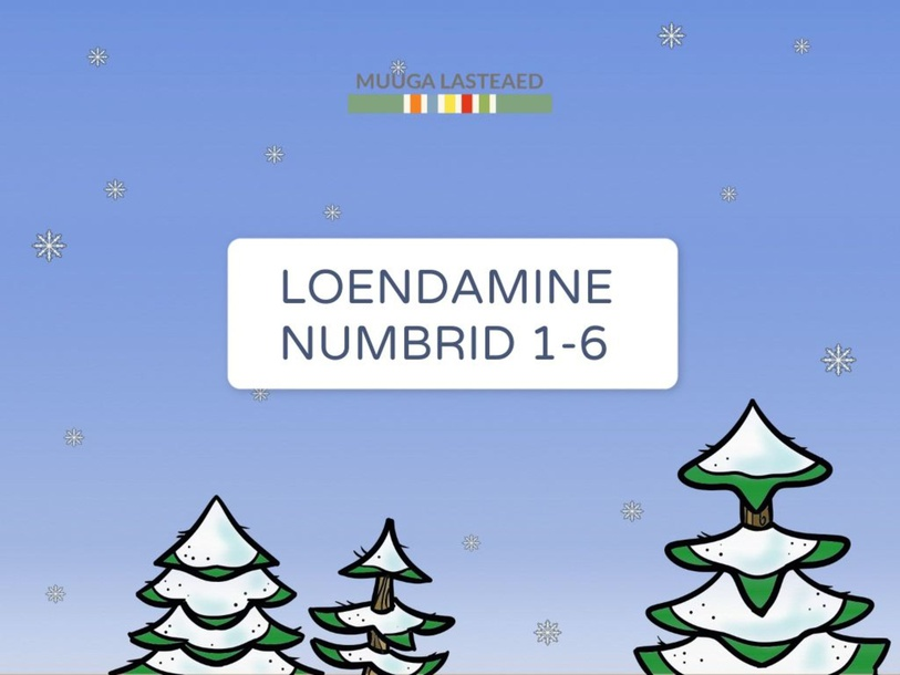 Loendamine (Numbrid 1-6) Jõuluteema by Triin Niit