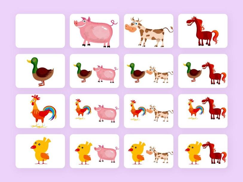Logikai mátrix - állatok by Enikő Kácsor-Ferkó