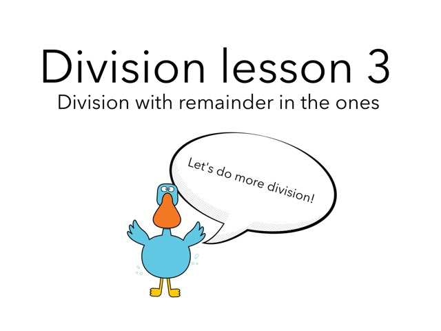 Long Division Lesson 3 by Theresa Dengler