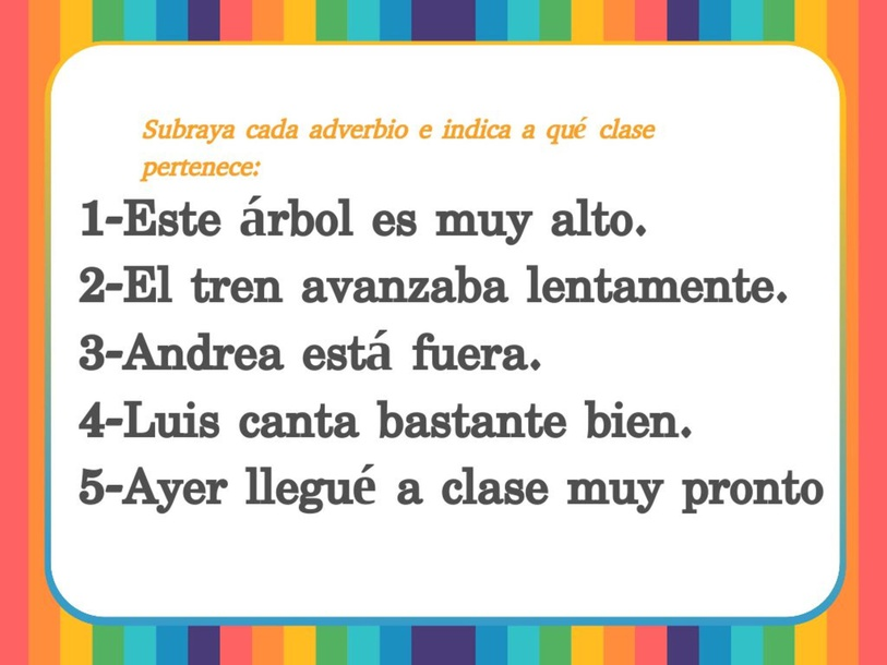 Los Aadverbios (Semana 3, QIII) by Charlie Aldeen Norman