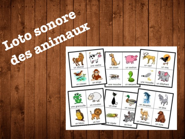 Loto Sonore Des Animaux by Alice Turpin