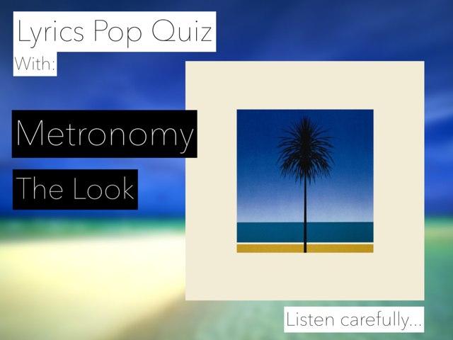 Lyrics Quiz - The Look by Pop Quiz
