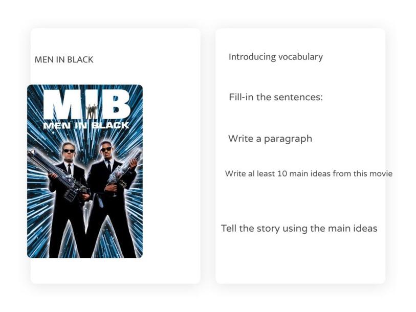 MEN IN BLACK ACTIVITIES by Adriana Brebenel