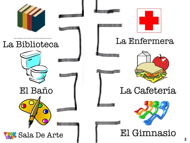 Madeleine's School Map by Nock Worldlang