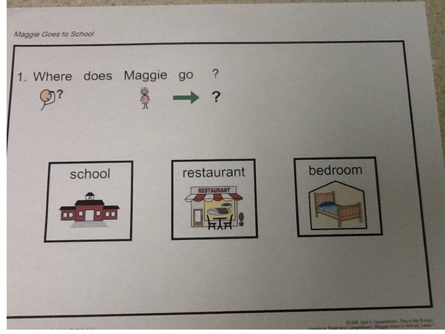 Maggie Goes To School Questions by Julie Gittoes-Henry
