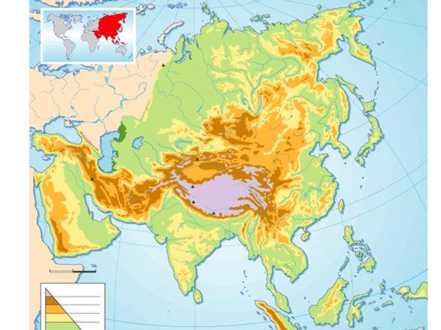 Mapa De Asia Mudo  by Veronica Martínez