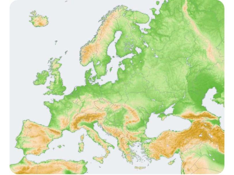 Mapa físico de Europa by Diego Hernández Sánchez