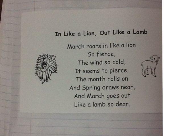 March Poem by MaryAnne Raymond