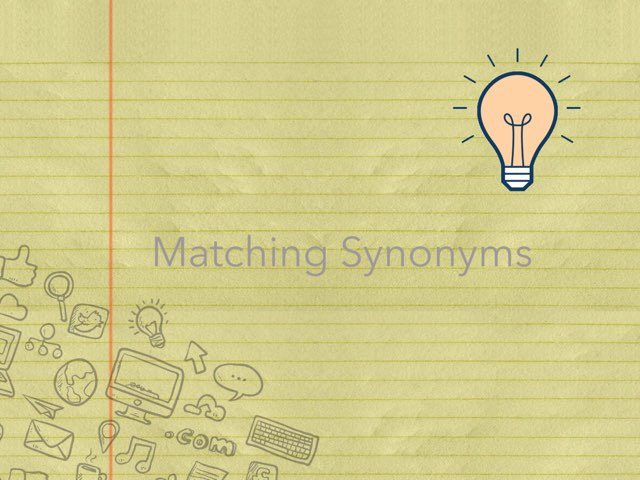 Matching Synonyms by Tyler Heckathorn