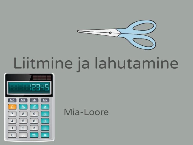 Matemaatika by Mia-Loore Pent