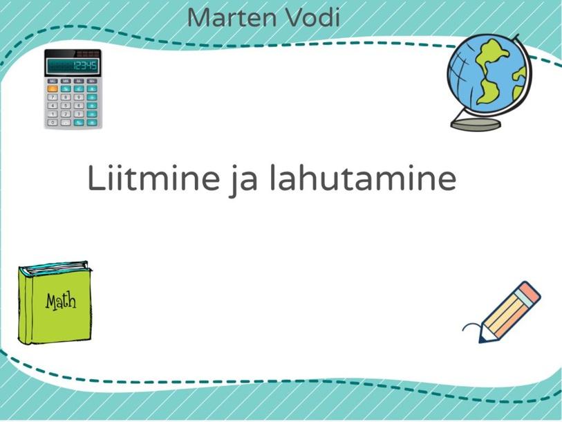 Matemaatika by Marten Vodi