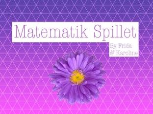 Matematik Spillet by Karoline Annlie