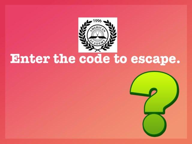 Math Escape 3 by Imane Almoutaa