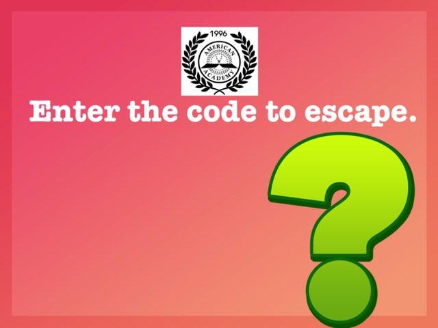 Math Escape 4-1 by Imane Almoutaa