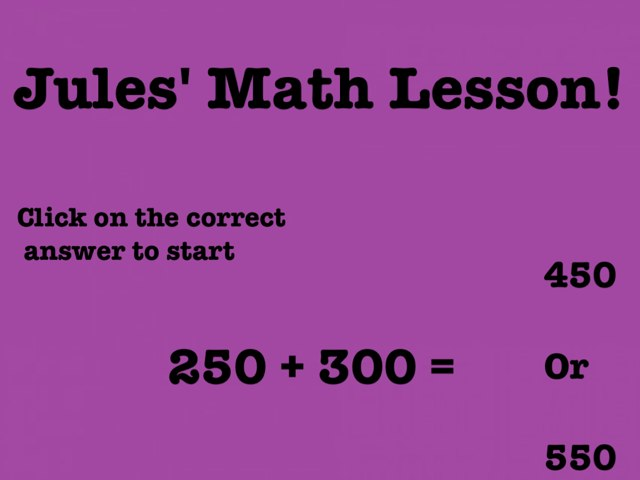 Math Lesson! by Jules Townsend