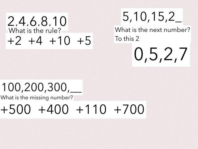 Math Patterns by Mackenzie Randall