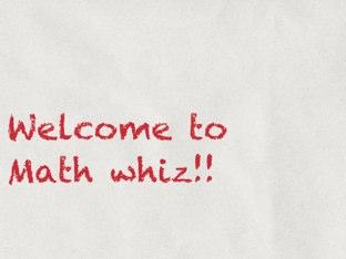 Math Whiz by Andrew McKnight