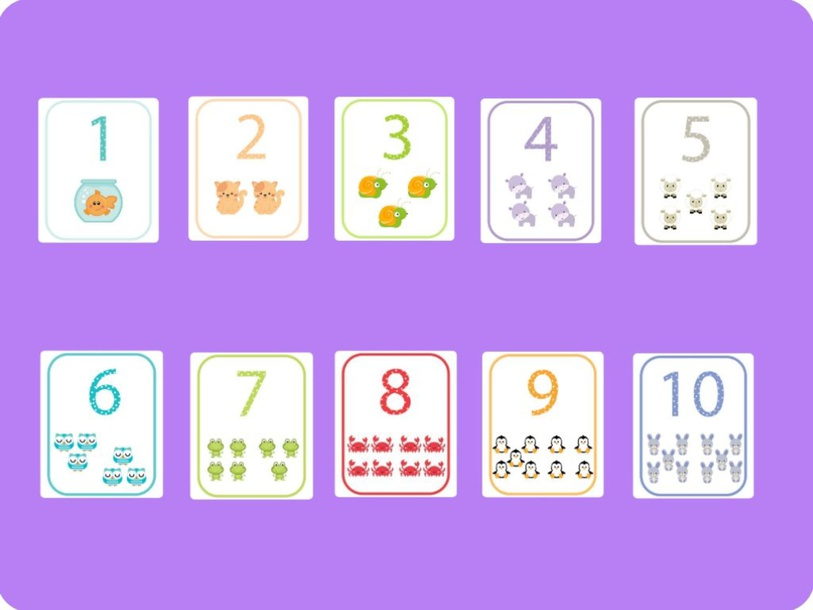 Mengenal angka 1-10 by Sulis Widiyanti