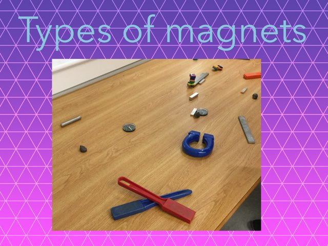 Mina's explore magnets game by Frances Chapin