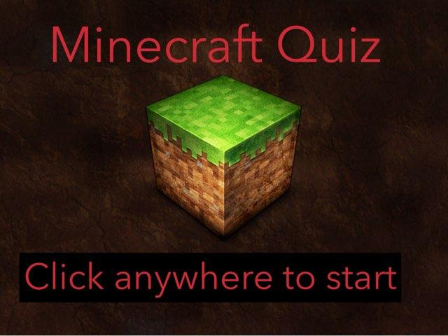 Minecraft Quiz by CSP