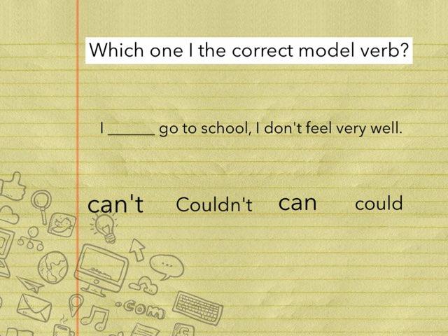 Model Verb Quiz  by Y6F Y6F