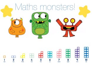 Monster Addition - 3 Single Digits by Mrs Scott