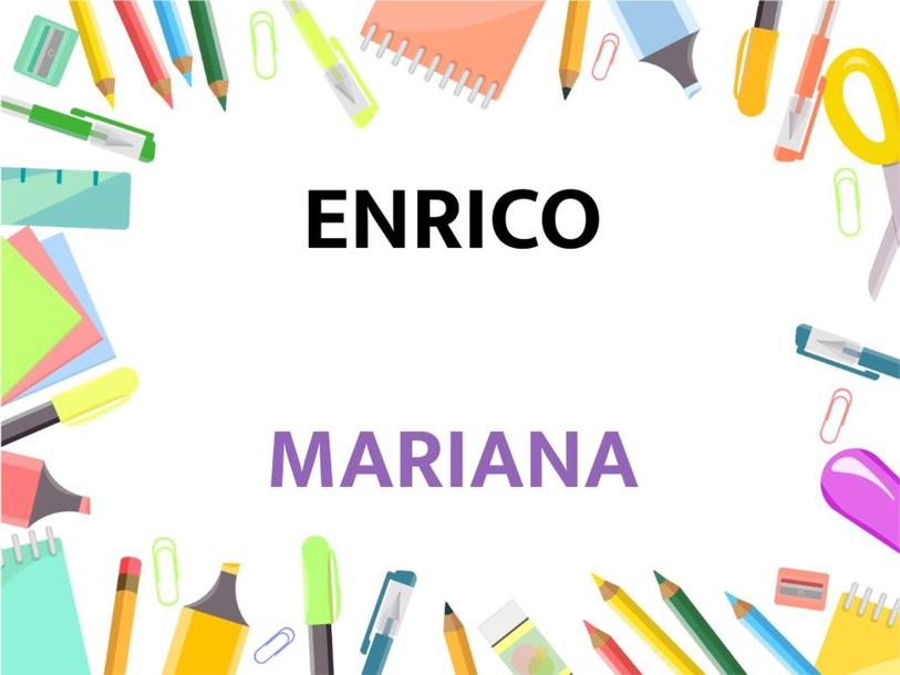 Montando nomes - Enrico e Mariana by Suelen Maria Ritter de Arruda