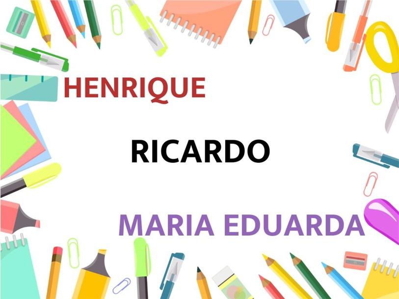 Montando nomes - Henrique, Ricardo e Maria by Suelen Maria Ritter de Arruda