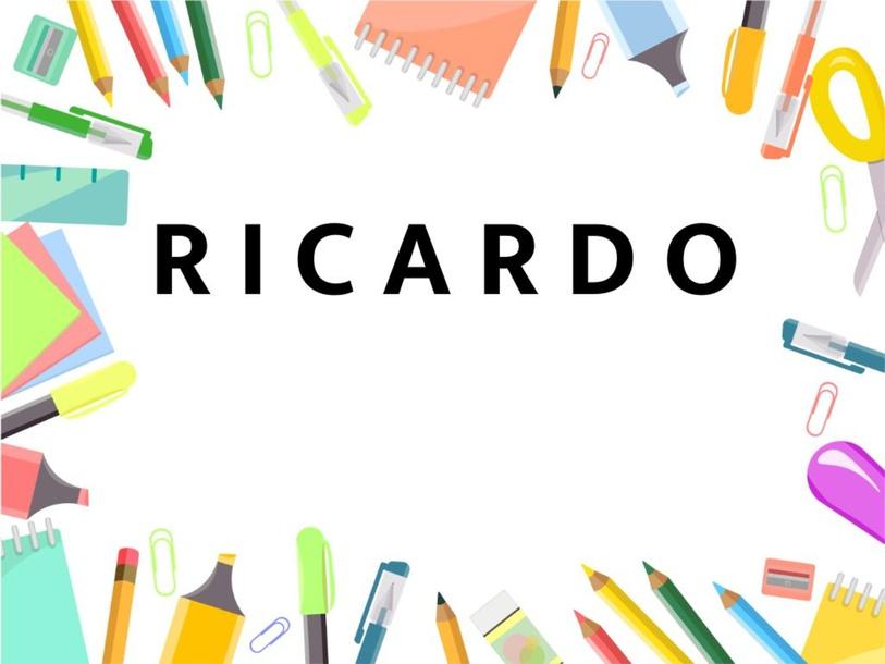 Montando nomes - Ricardo, Theo e Marcela by Suelen Maria Ritter de Arruda