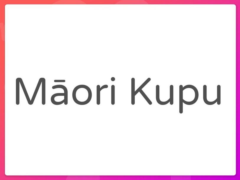 Māori Vocabulary  by Abbie Short