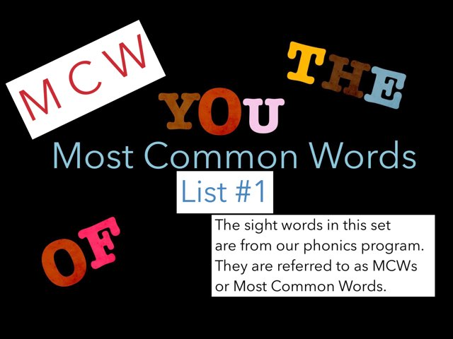 Most Common Words #1 by Jennifer