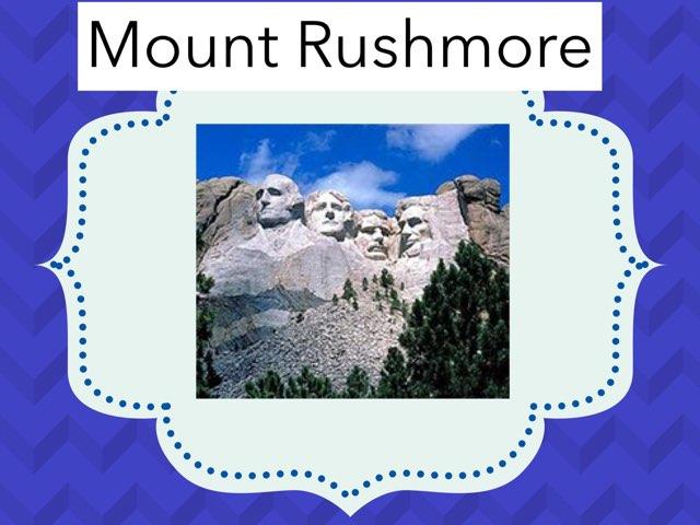 Mount Rushmore  by Hulstrom 1st Grade
