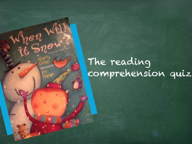Ms. Erin's Reading Comprehension Quiz 1 by Erin Weber