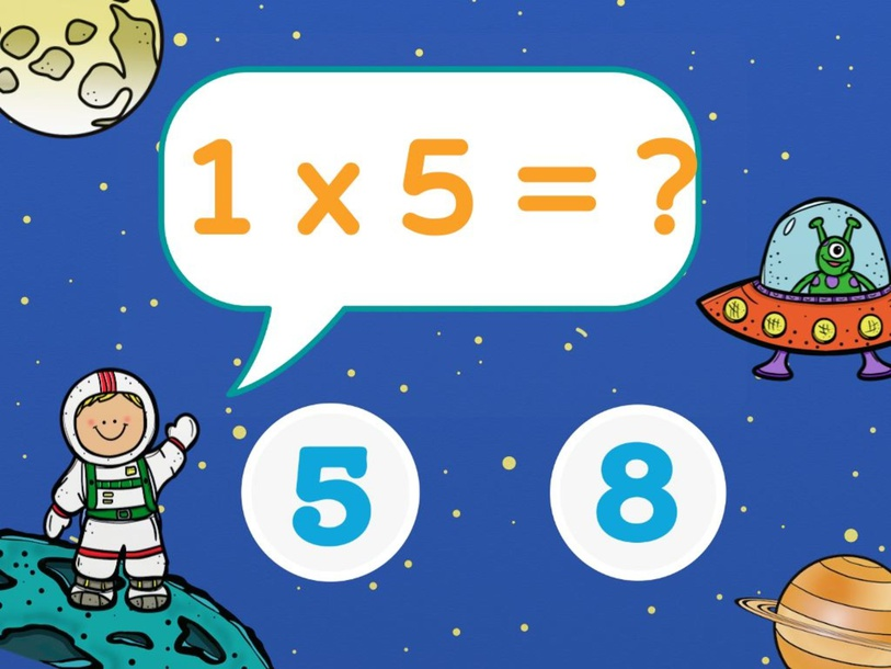 Multiplying Numbers by 5 by Teacher NES