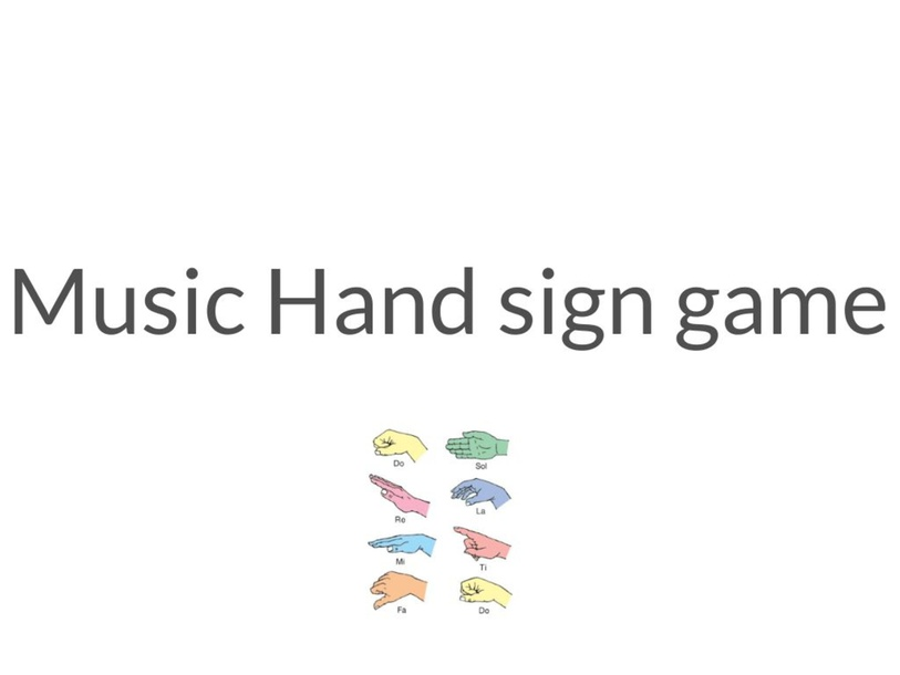 Music Hand sign by Xin Lim