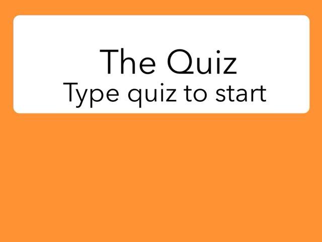 My First Quiz by Benjy Pountney