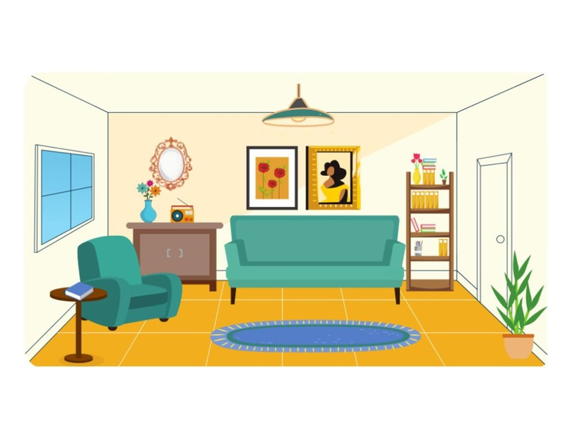 My Living Room by Lauren Hamilton Saez