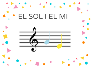 NOTES MUSICALS SOL I MI by CARME VALLMAJO TRAYTER