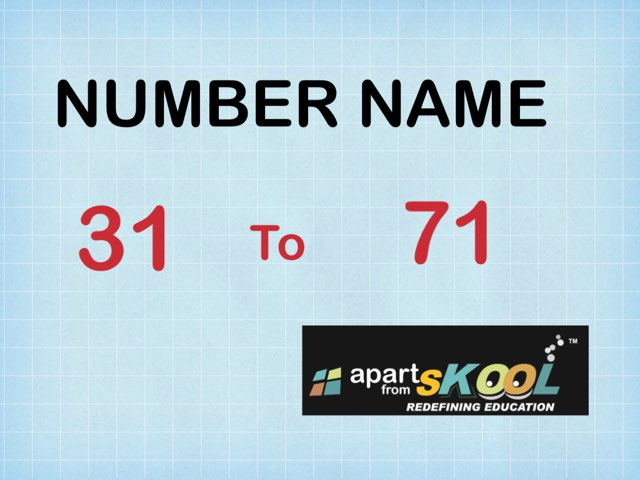 NUMBER NAMES by TinyTap creator