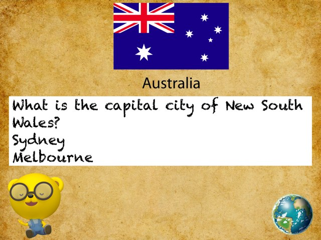 Name The Capital Cities Of Australia. by Ree Overton