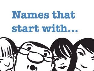 Names (A - F) by Yogev Shelly