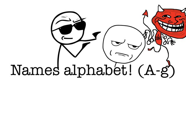 Names Alphabet! (a-g) by Valeria Ferradas