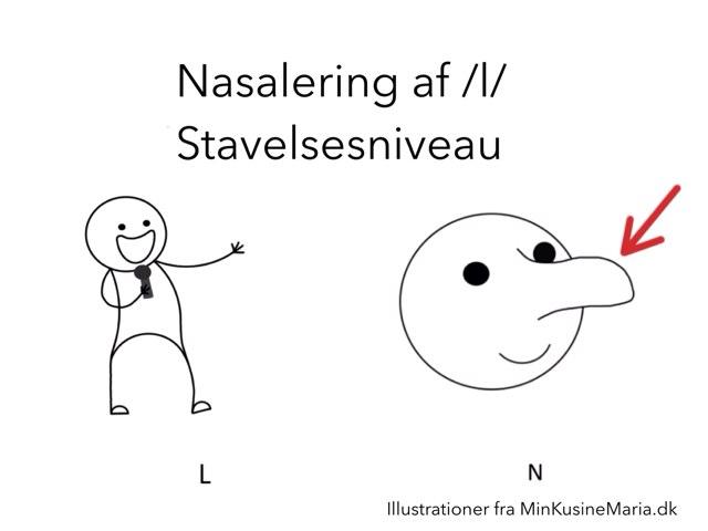 Nasalering af /l/ stavelsesniveau by Katrine Klim