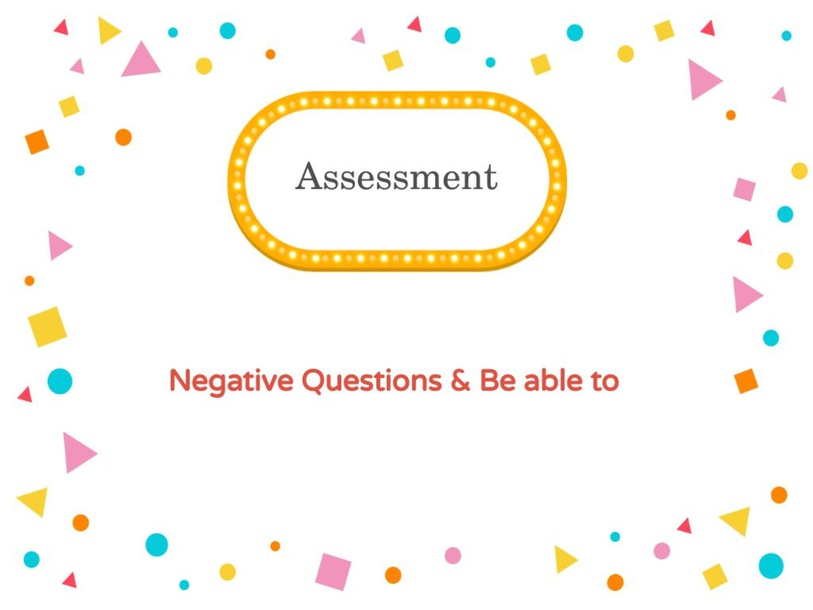 Negative questions & be able to by Afnan Alshehri