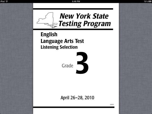 New York State Test 3rd by Jane Kola