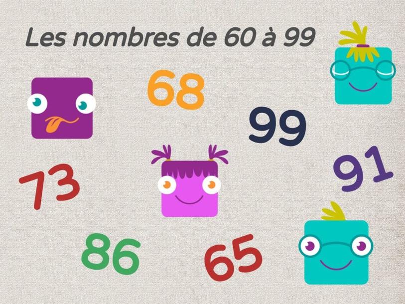 Nombre de 60 à 99 by UPE2A Prades