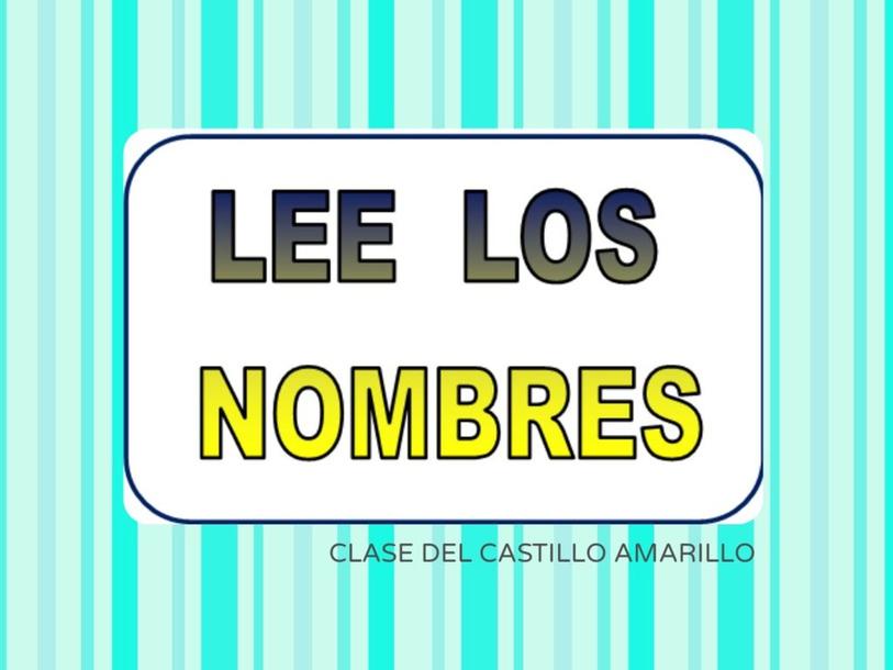 Nombres de clase by María