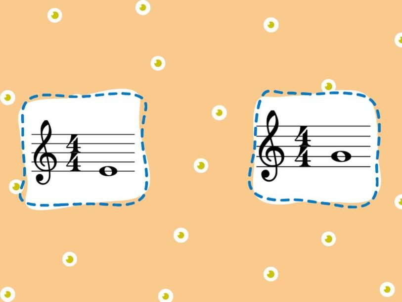Notas de linha e espaço, figuras musicais, claves. by Vivian Gonçalves