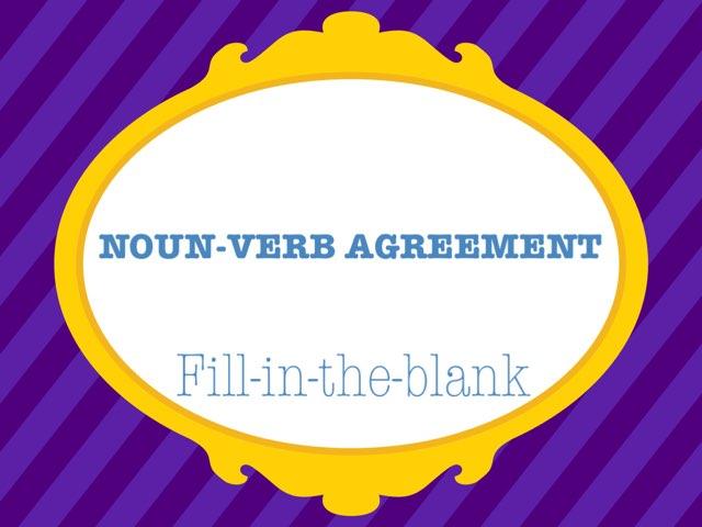 Noun-Verb Agreement by Pat Joytools