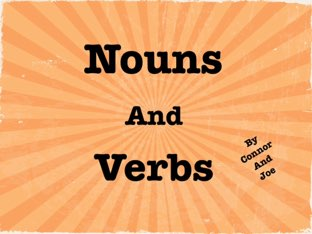 Nouns And Verbs by Michele Karszen